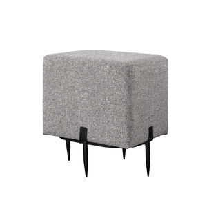Bowe Square Pouffe Stool Grey