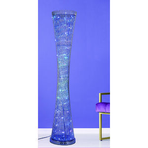 Silver Colour Changing Floor Lamp
