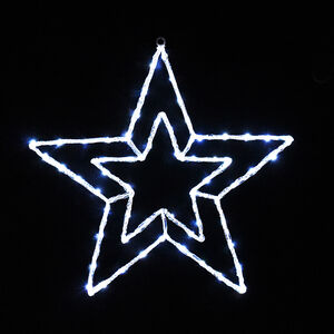 Large Double Christmas Star Silhouette Light