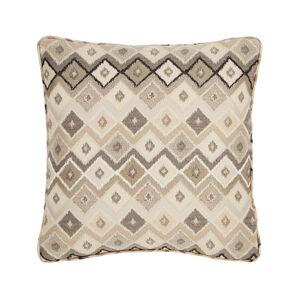 Ikat Natural Cushion 45cm x 45cm