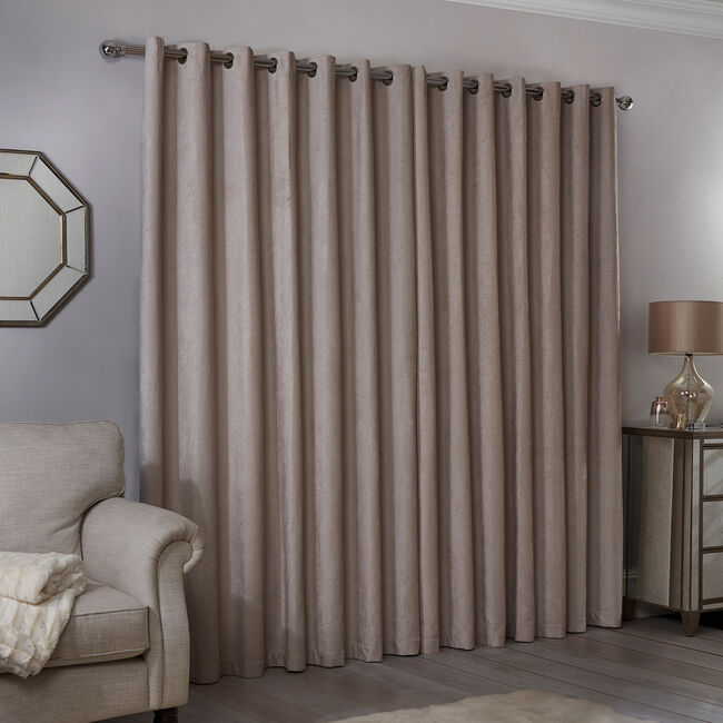 BLACKOUT & THERMAL TEXTURED NATURAL 66x90 Curtain