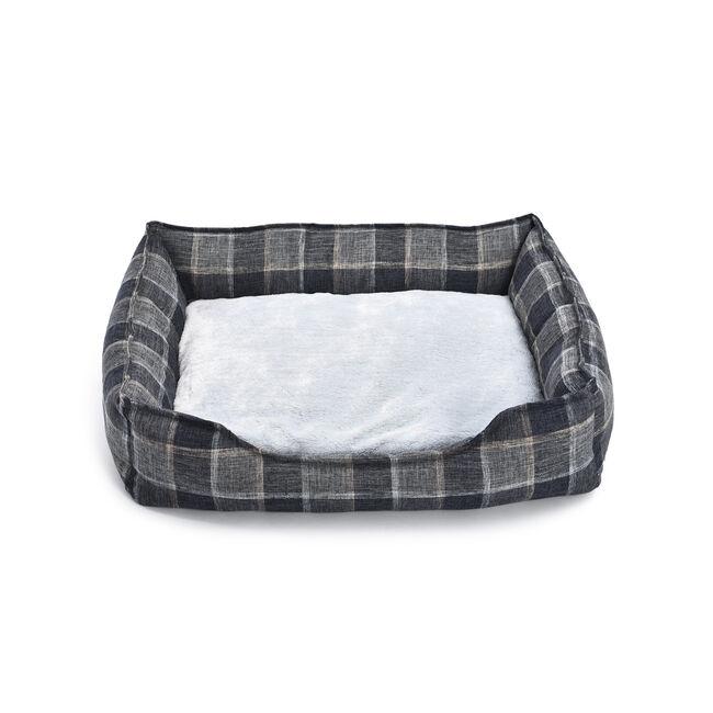 Soft Plush Check Pet Bed Large