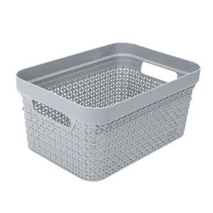 Ezy Mode Small Basket Stone Grey 5L