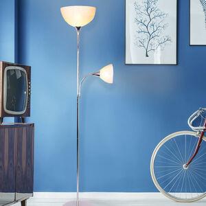 Mother & Son Floor Lamp - Chrome