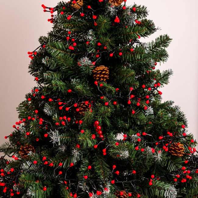 500 Red Berry Cluster Lights