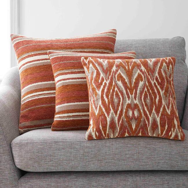 Rhea Stripe Cushion 45 x 45cm - Spice