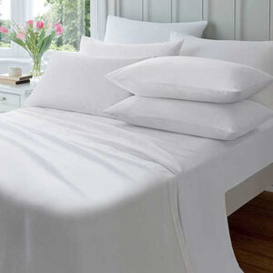 SINGLE FLAT SHEET  Flannelette White
