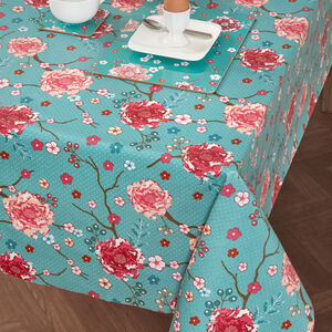 Floral Admiration Tablecloth 140x180cm - Teal