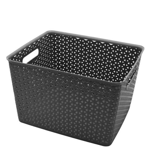 Geometric 19L Grey Basket