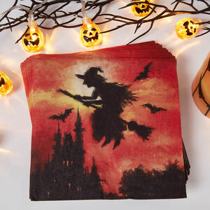 Witch Silhouette Napkins - 20 Pack