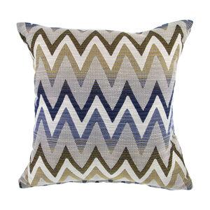 Mary Herringbone Navy Cushion 45cm x 45cm