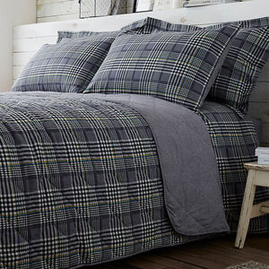 Brushed Cotton Wall Check Bedspread