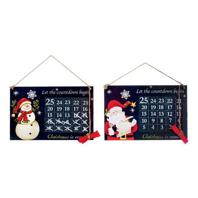 Christmas Countdown Blackboard