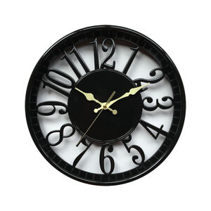 Black Cutout Time Clock 12""