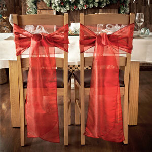 Red Christmas Chair Bow Pack Of 2