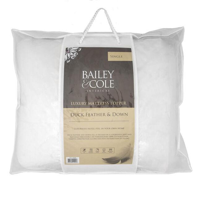 BAILEY & COLE LUXURY DUCK SINGLE Mattress Topper
