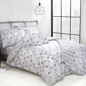 DOUBLE DUVET COVER Aidan Grey 300tc