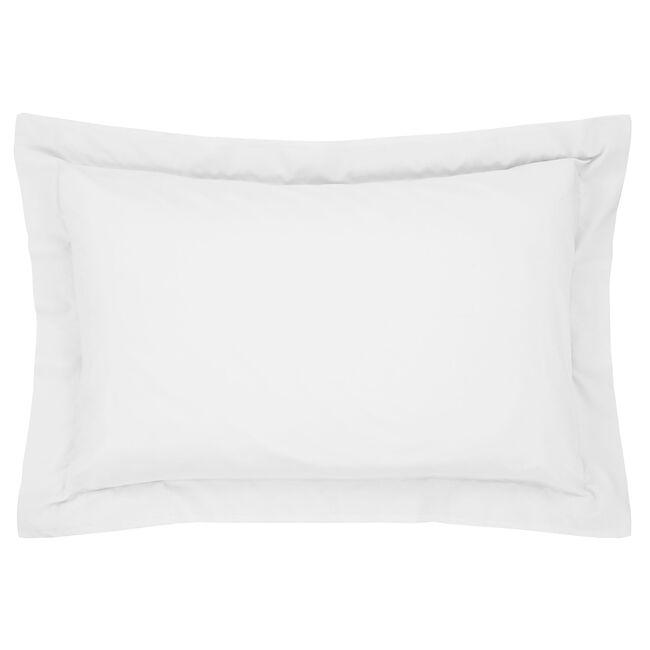 Luxury Percale Oxford Pillowcase Pair - White
