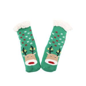 Kids reindeer Christmas Teddy Socks Pair