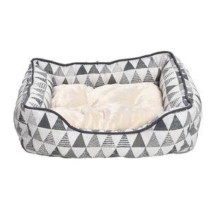 Perfect Paws Plush Geo Print Pet Bed - Large