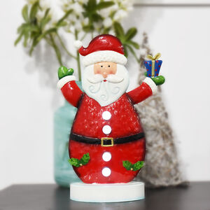 Light Up Metal Santa decoration