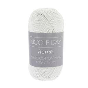Nicole Day White Cotton Yarn 50g 170m