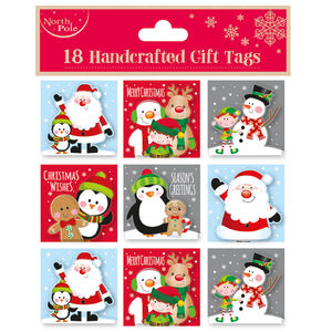 Cute Christmas Gift Tags 18 Pack