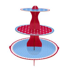 3 Tier Cupcake Stand Polka Dot