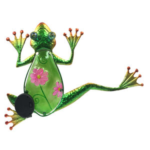 Decorative Glass Solar Frog Wall Art