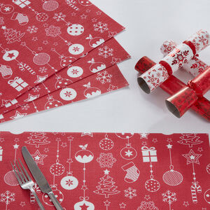 Festive Print Red Placemat