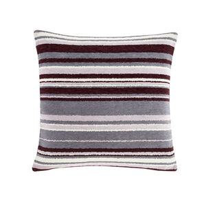 Rhea Stripe Cushion 45 x 45cm - Plum