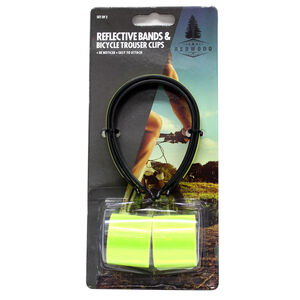 Reflective Bands and Bicycle Trouser Clips 2 Pack