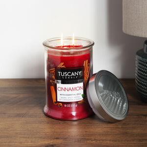Tuscany 18oz Double Wick Candle Cinnamon