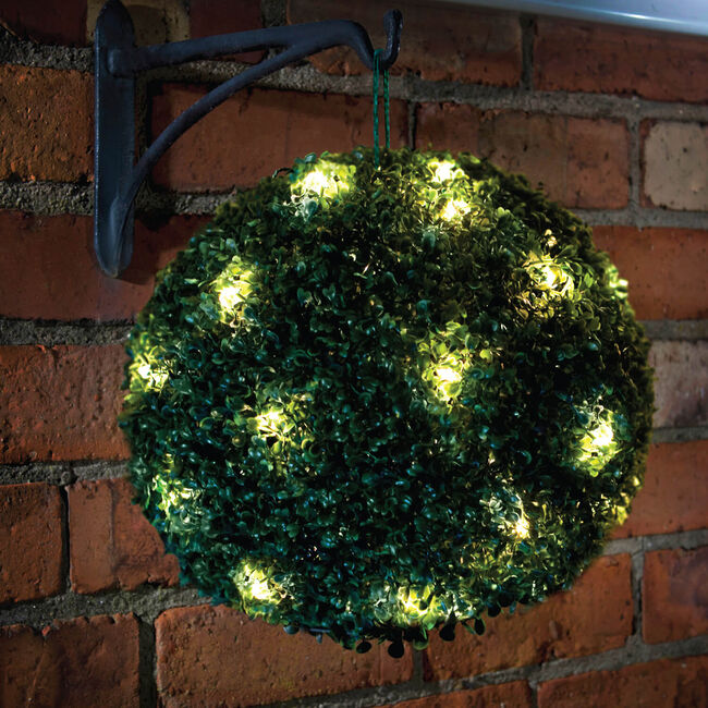 Solar Light Topiary Bush 28cm