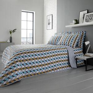 Jimmy Bedspread 200x220cm - Grey/Ochre
