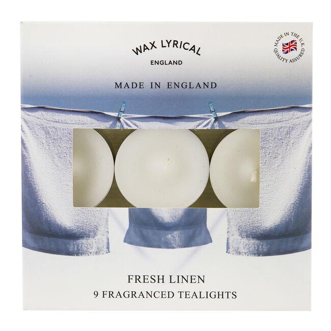 Fresh Linen Box of 9 Tealights