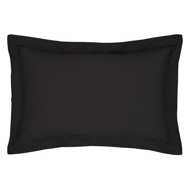 Luxury Percale Oxford Pillowcase Pair - Black