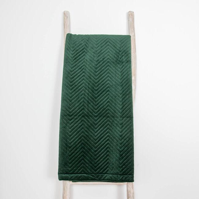 Triangle Stitch Throw 150 x 200cm - Green