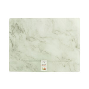 White Marble Glass Worktop Saver