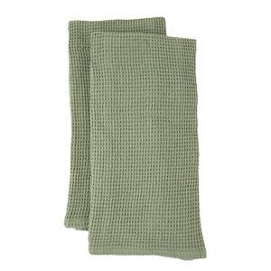 Waffle Tea Towels 2 Pack - Sage