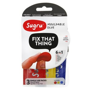 Sugru Mouldable Glue 3 Single Use Packs