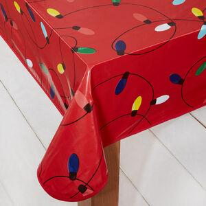 Christmas Lights PVC Table Cloth 160x230cm
