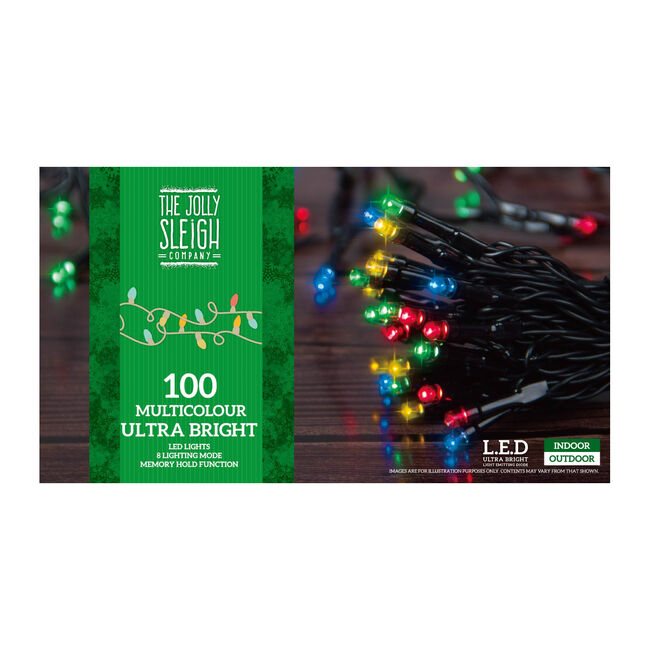 100 Bright LED Chaser Lights Multicolour