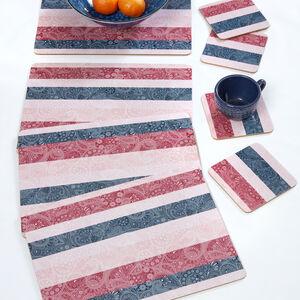 Paisley Stripe Mats & Coasters 4 Pack