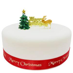 Reindeer & Motto Cake Topper