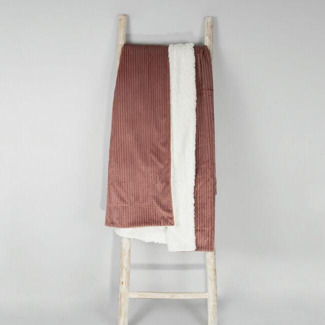 Ruane Cord Sherpa Throw 130 x 170cm - Cedar
