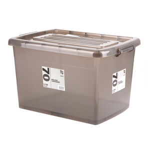 Rolling Storage Container 70L - Slate