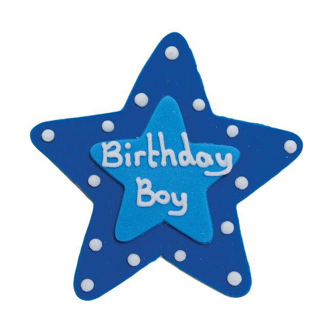 Birthday Boy Plaque Cake Toppers
