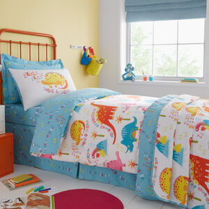JUNIOR BED DUVET COVER Sleepy Dinos