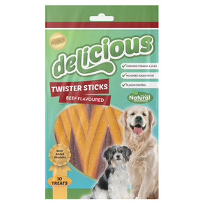 Natural Beef Twisters Dog Treat 10Pk 200g